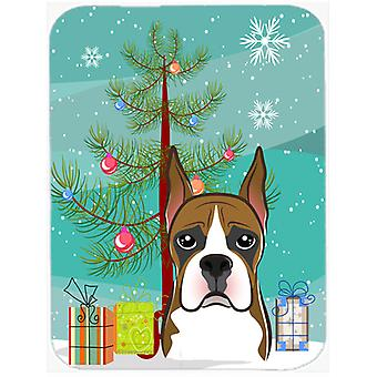 Christmas Tree and Boxer Glass Cutting Board Large BB1595LCB