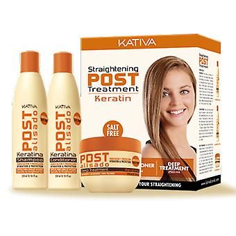 Kativa Kativa Post Relaxer Kit X 3 Pack (Shampoo + Conditioner x 250 Ml 250 Ml + X X 250 Deep Treatment