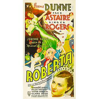 Roberta Ginger Rogers Fred Astaire Irene Dunne 1935 Movie Poster Masterprint