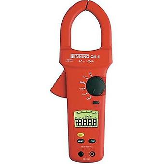 Current clamp, Handheld multimeter digital Benning CM 6 Calibrated to: Manufacturer standards CAT IV 600 V Display (cou