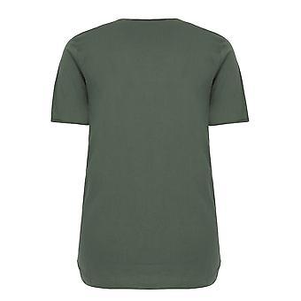 BadRhino Khaki T-Shirt mit Brusttasche