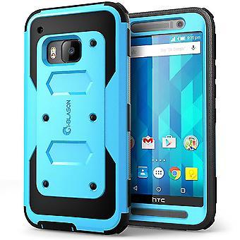 Jag-Blason HTC One M9 fall - Armorbox Full kropp skyddande fodral - blå