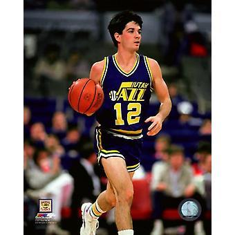John Stockton 1986 Action Photo Print