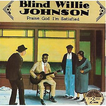 Blind Willie Johnson - prise Gud, jeg er tilfreds [CD] USA import