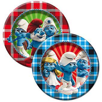 The Smurfs kids party plates 8 piece children's birthday