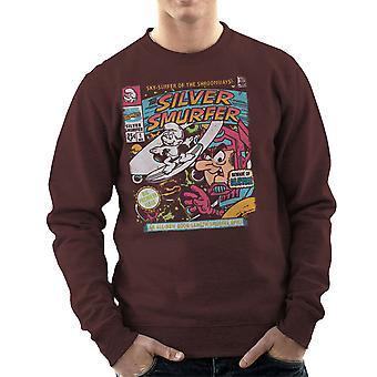 Silber Smurfer die Schlümpfe Silver Surfer Herren Sweatshirt
