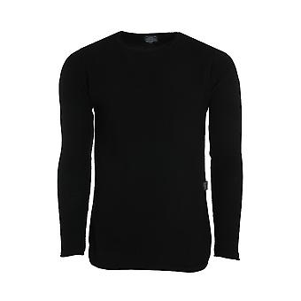 CARISMA rope jumper mens knitted sweater round neck black