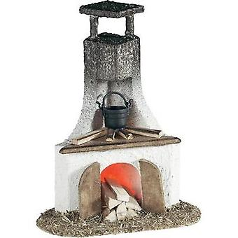 Nativity fireplace Kahlert Licht 40648 3.5 V with lights