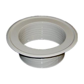 Metal Ventilation Ducting Pipe Wall Plate Spigot White 200mm Diameter