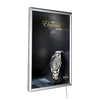 A3 LED Silver Poster Snap Frame