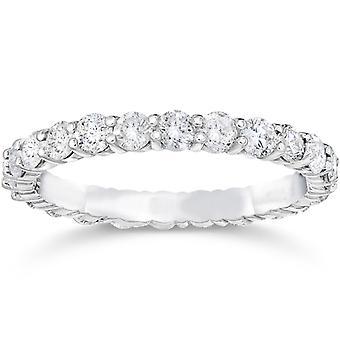1 3/4ct Diamond Eternity Ring 14K White Gold
