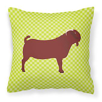 Kalahari Red Goat Green Fabric Decorative Pillow