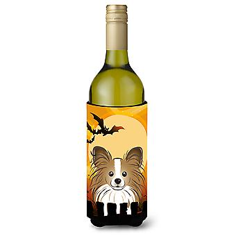 Halloween Papillon Wine Bottle Beverage Insulator Hugger