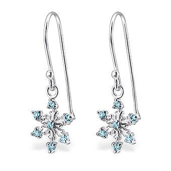 Snowflake - 925 Sterling Silver Cubic Zirconia Earrings - W24472x