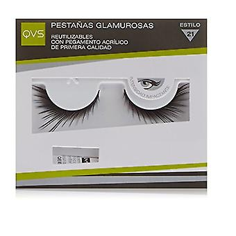 QVS Glamour Lashes Fluttering Feathers Eyelashes Includes Lash Adhesive
