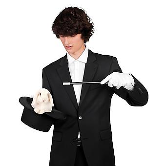 Plastic Magician Magic Wand Black and White Fancy Dress Accessory 33cm