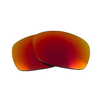 Replacement Lenses Compatible with OAKLEY Sideways Non-Polarized Red Mirror
