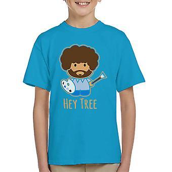 Bob Ross pittura Ehi t-shirt di albero bambino