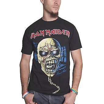 Iron Maiden T Shirt Piece Of Mind eddie Skull band logo mens new black Official