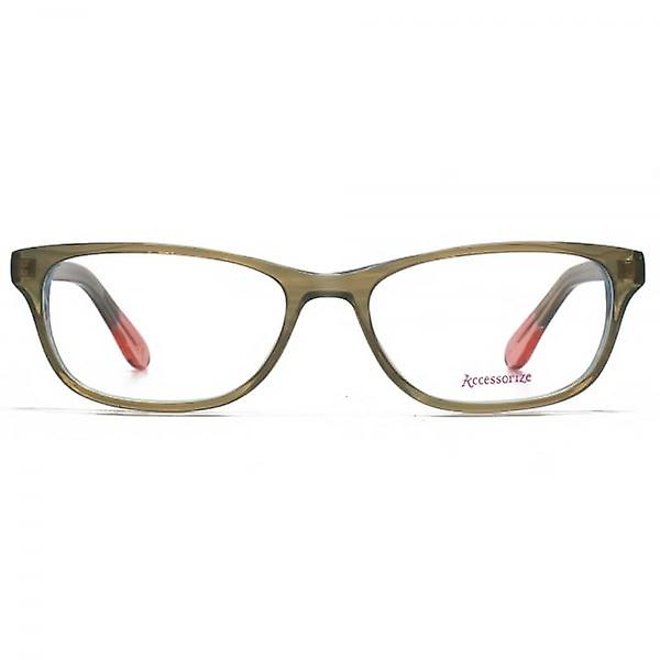 Accessorize Glam Rectangle Glasses In Brown