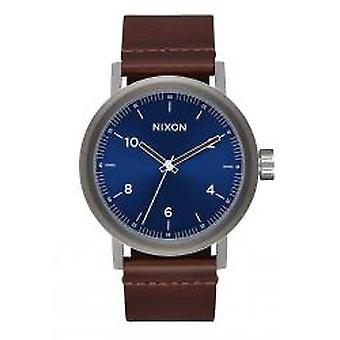 Nixon The Stark Leather Blue Sunray / Brown (A1194-2301)