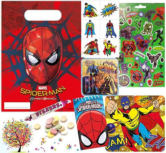 Pre Filled Spiderman Party Bag £1.65 - with FREE downloadable party games