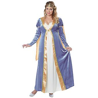 Elegant Empress Renaissance medeltida drottning Princess Womens kostym Plus