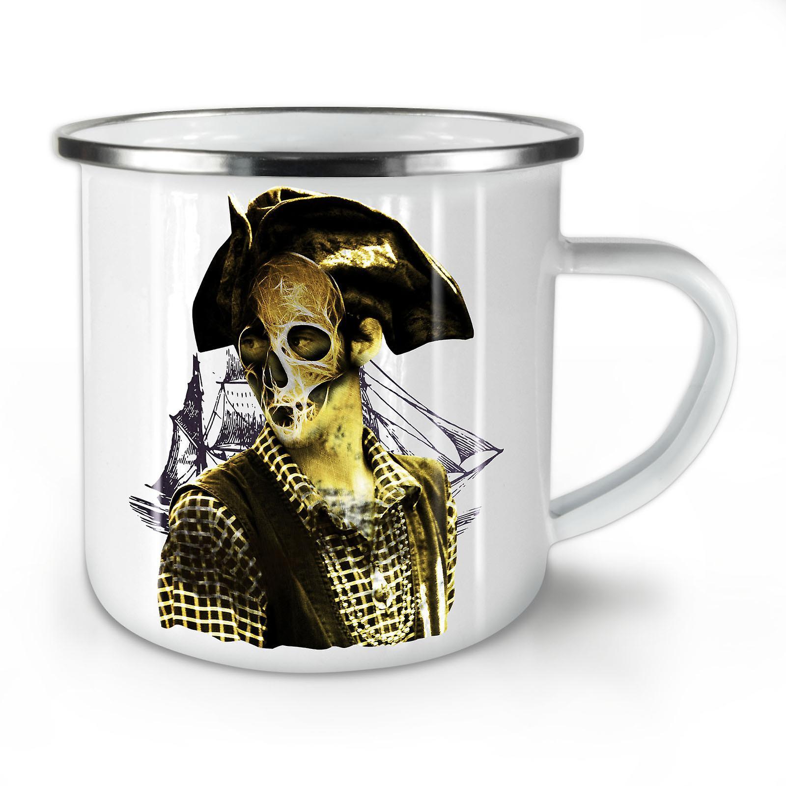 Pirate Café Death Émail Nouveau Whitetea Mug10 OzWellcoda Métal 0wyvm8OPnN