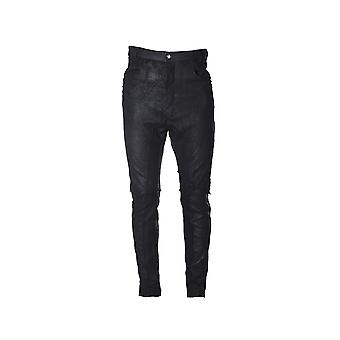 Nostrasantissima men's PP4601000 black leather pants