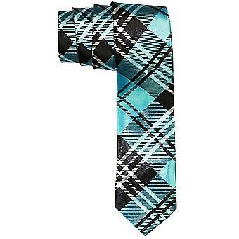 Smala satin slips - STRIPES svart / blå