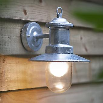 Garden Trading St Ives Ships Wall Light - Galvanised