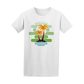 Tropical Palm Trees On Island Tee Men's -Image by Shutterstock