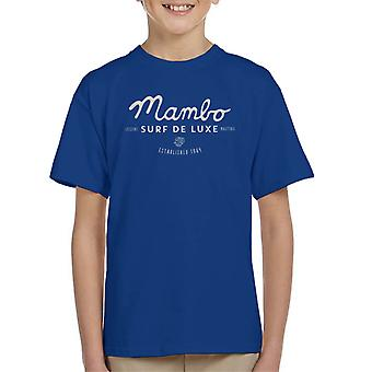 Mambo Cubano Surf White Kid's T-Shirt