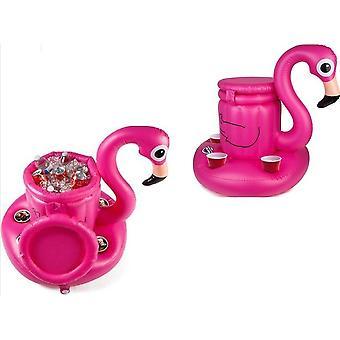 BigMouth inflable flotante Flamingo Multi bebidas nevera flotador playa vacaciones natación agua playa piscina