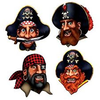 Pirat besättning utskärningar - 4 per förpackning