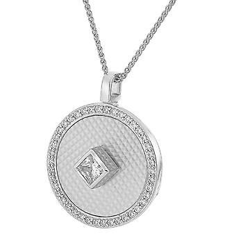Orphelia Silver 925 Chain With Pendant Mop With Central Square Zirconium  ZH-7290