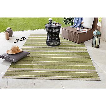 Design- og Outdoorteppich flad stof rem grøn
