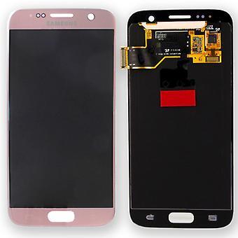 Display LCD Komplettset Pink Rosa Gold für Samsung Galaxy S7 G930 G930F GH97-18523E