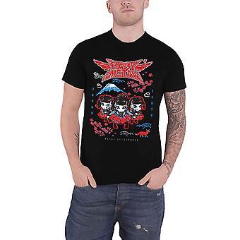 Babymetal T Shirt Pixel Tokyo Band Logo japanske Metal nye officielle Herre sort
