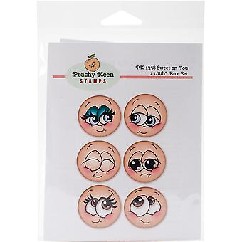 Peachy Keen Stamps Clear Face Assortment 6/Pkg-Sweet On You