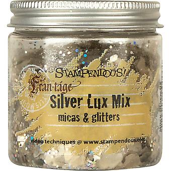 Stampendous Frantage Micas & Glitters Lux Mix 1.5oz W/Tab-Silver
