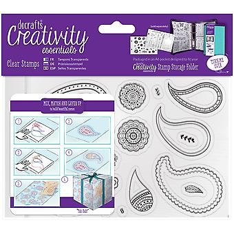 Creativity Essentials A6 Clear Stamps-Paisley