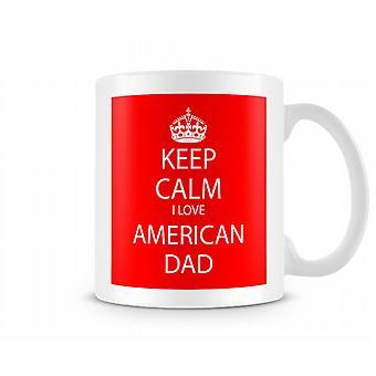 Behåll lugnet jag älskar American Dad tryckta mugg