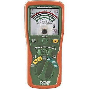 Extech 380320 Insulation tester 250 V, 500 V, 1000 V 400 MΩ Calibrated to Manufacturers standards (no certificate)