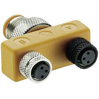 Sensor & actuator box (passive) ASBS T splitter ASBS 2 M8 11124 Lumberg Automation 1 pc(s)