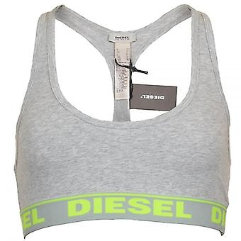 DIESEL Women Miley Cotton Bralette, Grey, Large
