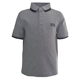 Hugo Boss Boys Hugo Boss Kids Grey Short Sleeve Polo Shirt