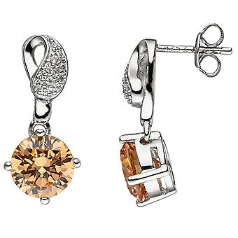 Earrings 925 sterling silver with cubic zirconia earrings Silver earrings