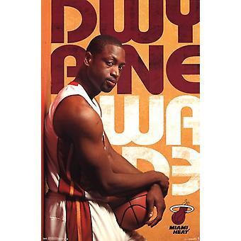 Miami Heat - D Wade 13 Poster Print