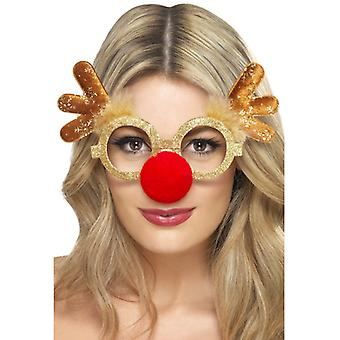 Reindeer glasses Christmas Reindeer Rudolph glasses with nose and antlers